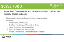Town Hall Discussion: Art of the Possible, UAS in the Supply Chain Industry
