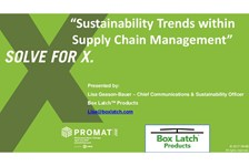 Sustainability Trends Within Supply Chain Management