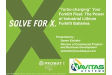 """Turbo-charging"" Your Forklift Fleet:  The Power of Industrial Lithium Forklift Batteries"