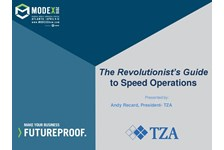 The Revolutionist's Guide to Speed Operations