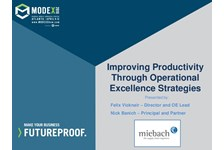 Improving Productivity by Leveraging Operational Excellence Strategies