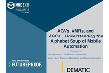 AGVs, AMRs, and AGCs???Understanding the alphabet soup of Mobile Automation