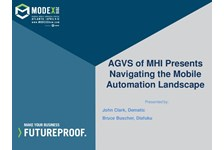 AGVS of MHI Presents Navigating the Mobile Automation Landscape