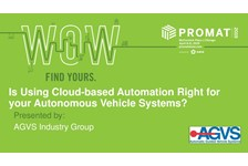 AGVS of MHI presents:  Is Using Cloud-based Automation Right for your Autonomous Vehicle Systems