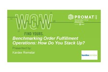 Benchmarking Order Fulfillment Operations: How Do You Stack Up?