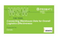 Connecting Warehouse Data for Overall Logistics Effectiveness