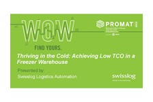 How to gain the lowest cost of ownership for a freezer warehouse