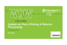 Update on Piece Picking & Returns Processing