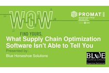 What Supply Chain Optimization Software Isn't Able to Tell You - Considerations in facility strategy, location, design, and layout