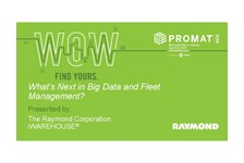 What???s Next in Big Data and Fleet Management?
