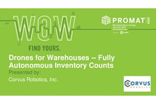 Drones for Warehouses - Fully Autonomous Inventory Counts