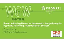 Achieving Return on Investment : Demystifying the Hype and Achieving Implementation Success