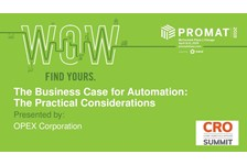 Automation the Practical Considerations