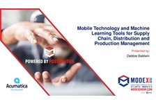 Mobile Technology and Machine Learning Tools for Supply Chain, Distribution and Production Management