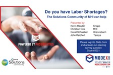 Solutions Community of MHI : Do you have a Labor Shortage? The Solutions Community of MHI can help.