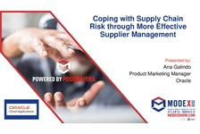 Coping with Supply Chain Risk through More Effective Supplier Management