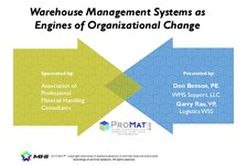 WED2:15B: Warehouse Management Systems As Engines Of ...