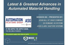 Automation Solutions Group of MHI Presents: Latest and Greatest Advances in Automated Handling